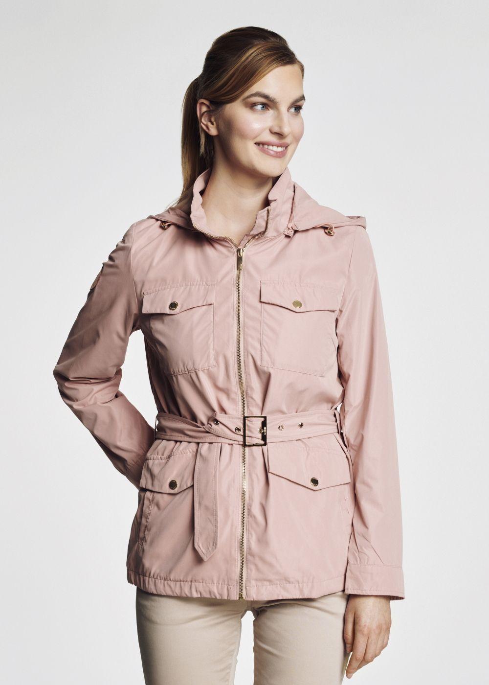 Wiosenna kurtka damska z paskiem KURDT-0170-34(W21)