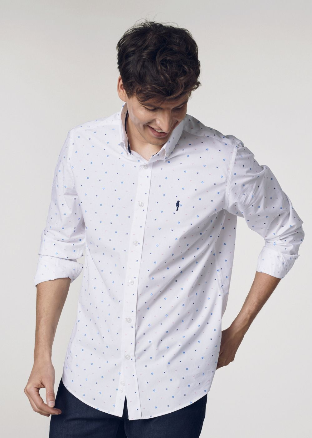 Koszula męska KOSMT-0245-11(W21)