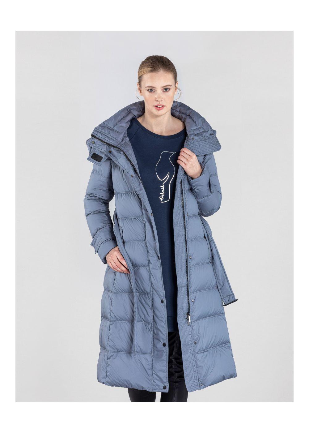 Niebieska zimowa kurtka damska z kapturem KURDT-0268-96(Z20)