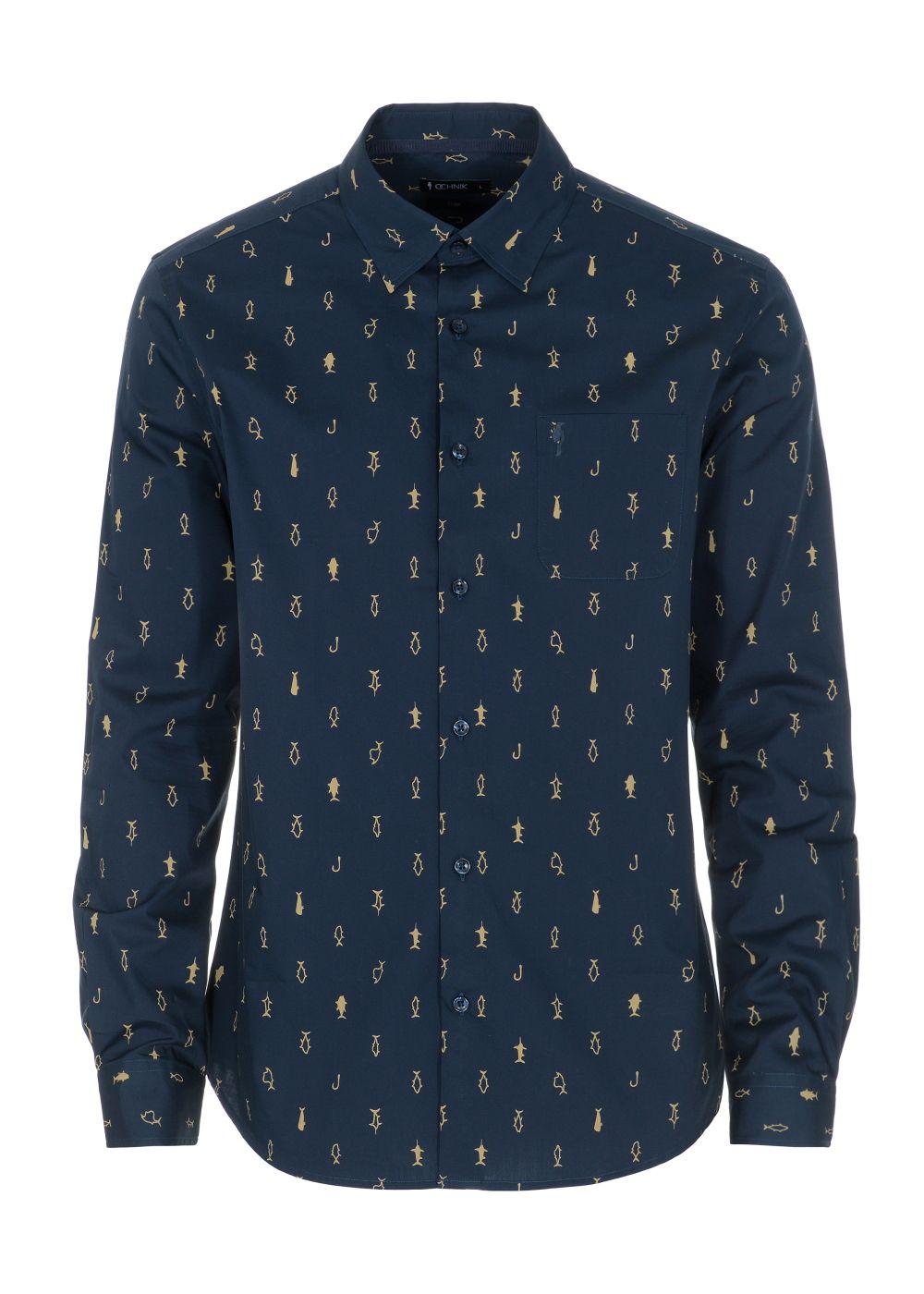 Koszula męska KOSMT-0262-69(W21)