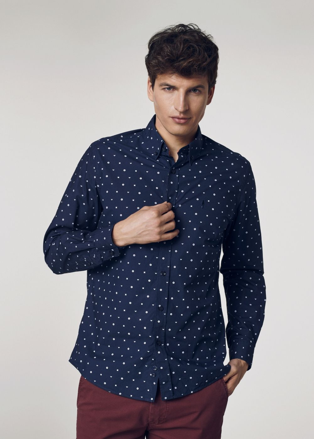 Koszula męska KOSMT-0245-61(W21)