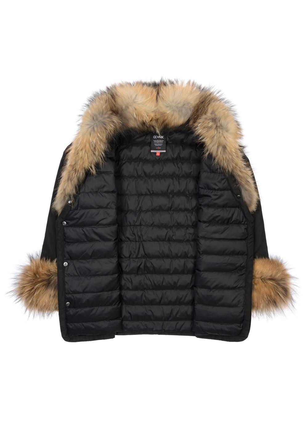 Ciepła kurtka damska z futrzanym wykończeniem KURDT-0251-99(Z20)