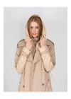 Beżowy zimowy płaszcz damski KURDT-0260-81(Z20)