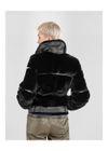 Krótkie czarne futro damskie naturalne FUTDF-0075-0985(Z20)