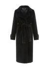 Długie futro damskie w czarnym kolorze FUTDT-0022N-99(Z20)