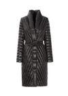 Czarny puchowy płaszcz damski KURDT-0276-99(Z20)