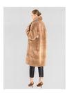 Beżowe futro damskie z wełny oversize FUTDT-0031-79(Z20)