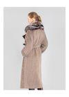 Długi kożuch damski z owczej skóry KOZDS-0050-0997(Z21)