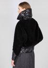 Krótkie czarne futerko damskie z wełny FUTDT-0039-99(Z21)