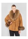 Ciepła kurtka damska w karmelowym kolorze KURDT-0251-83(Z20)