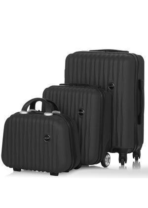 Komplet walizek na kółkach i kosmetyczka 14'/16'/19' WALAB-0050-99(W20)