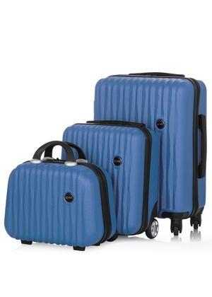 Komplet walizek na kółkach i kosmetyczka 14'/16'/19' WALAB-0050-69(W20)