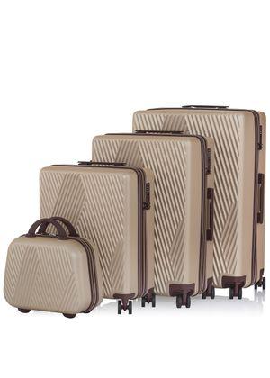 """Komplet walizek na kółkach i kosmetyczka 14""""/19""""/24''/28'' WALAB-0026-81(W20)"""
