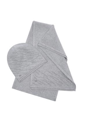Zestaw czapka i szalik CZADT-0050-91+SZADT-0095-91(Z20)