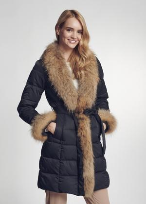 Zimowa kurtka damska z futrzanym obszyciem KURDT-0277-99(Z21)