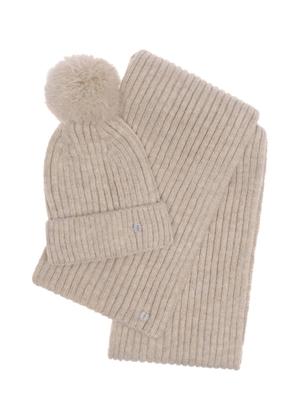 Zestaw czapka i szalik SZADT-0126-80+CZADT-0063-80(Z21)