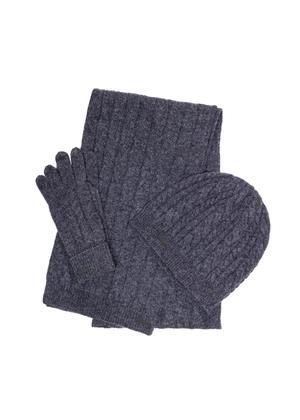 Zestaw czapka, szalik i rękawiczki SZADT-0128-91+CZADT-0065-91+REKDT-0019-91(Z21)