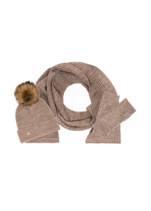 Zestaw czapka, szalik i rękawiczki SZADT-0096-81+CZADT-0052-81+REKDT-0018-81(Z21)