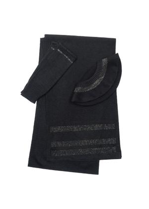 Zestaw czapka, szalik i rękawiczki CZADT-0041-99+SZADT-0091-99+REKDT-0015-99(Z20)