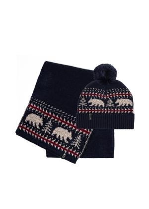 Zestaw czapka i szalik SZAMT-0055-69+CZAMT-0053-69(Z21)