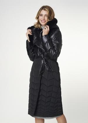 Zimowa kurtka damska zapinana na napy KURDT-0254-99(Z21)
