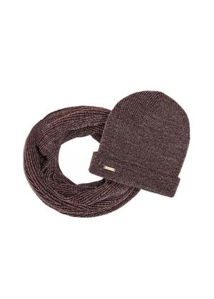 Zestaw czapka i komin KOMDT-0013-89+CZADT-0031-89(Z21)