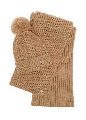 Zestaw czapka i szalik SZADT-0126-81+CZADT-0063-81(Z21)