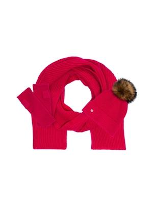Zestaw czapka, szalik i rękawiczki SZADT-0096-31+CZADT-0052-31+REKDT-0018-31(Z21)