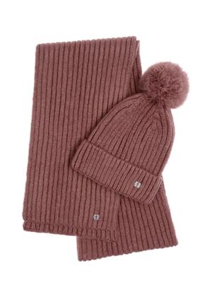 Zestaw czapka i szalik SZADT-0126-31+CZADT-0063-31(Z21)
