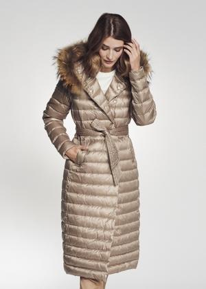 Długa pikowana kurtka damska na jesień KURDT-0006-82(Z21)