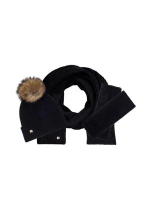 Zestaw czapka, szalik i rękawiczki SZADT-0096-99+CZADT-0052-99+REKDT-0018-99(Z21)