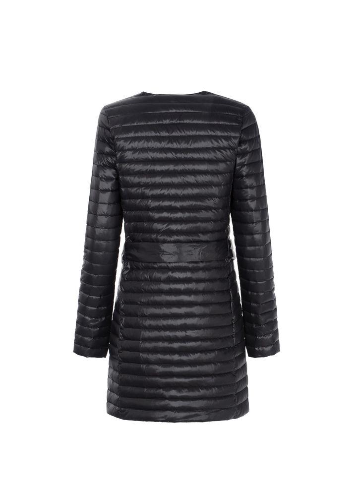 Pikowana kurtka damska z paskiem KURDT-0201-99(W21)